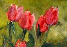 #144 Tulips Seranade, painting by artist Norma Wilson