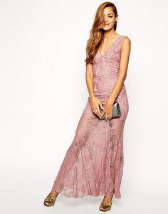 ASOS Lace Fishtail Maxi Dress