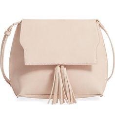 Main Image - Sole Society Tassel Faux Leather Crossbody Bag