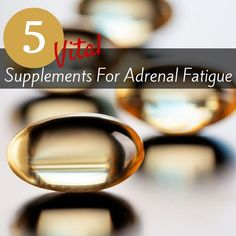 Too many supplements got you down? Check out these 5 simple and natural supplements to banish adrenal fatigue!
