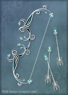 Moon Elves' Bow - Auction! by Rittik-Designs on DeviantArt