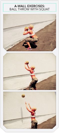 Wall Balls Kicked my a$$ today but I'll still take them over burpees any day! :) #crossfit #xfit
