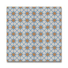 $102 for 5.22 square feet: Pack of 13 Medina Blue and Orange Handmade Cement/ Granite 8-inch x 8-inch Floor and Wall Tile (Morocco)