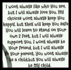 I will always love my sweet girl.