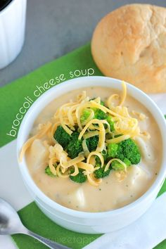 Easy Broccoli Cheese Soup - Harmons Blogger | One Sweet Appetite