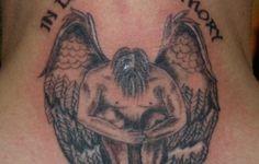 Angel Memorial Tattoos Designs