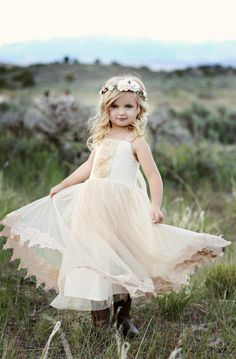 AIIIIIdII More colors Flower girl dress boho flower girl dressrustic Ivory flower girl dress flower girl dresses beach wedding flower girl dress Champagne SweetValentina 5 out of 5 stars Flower Girl Dresses Boho, Flower Girls, Beach Dresses, Boho Dress, Wedding Dresses, Halter Dresses, Wedding Attire, Tulle Dress, Lace Dress