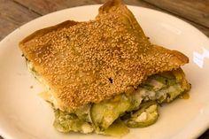 Chania's boureki (pita with zucchini, potatoes and cheese)