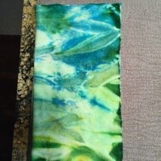 Microwave Dyeing Including Video and 7 Dye Methods - The NOW FREE Welcome Mat Dyed by Paulette Attie