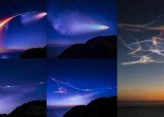 ロケット雲の美しすぎる連続写真 「こんなにすごい打ち上げは見たことなかった」(イプシロン3号機)