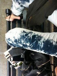 Tie dye bleach jeans like Isabel Marant S/S12
