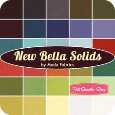 New Bella Solids Fat Quarter Bundle Moda Fabrics