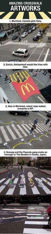 adoro intervenção em faixa de pedestre, mas acho q deve ter alguma lei dizendo que não pode hahah :P
