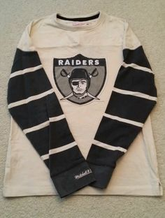 9c379b6e0 Oakland Raiders Mitchell and Ness Cream Vintage Long Sleeve Shirt New With  Tags!