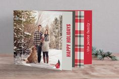 Plaid Holiday Holiday Minibook™ Cards by Van... | Minted