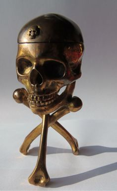 19th C Memento Mori Desk Clock by Javelot