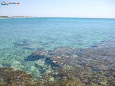 Punta Prosciutto's Beach, the cliff side, Porto Cesareo, Salento, Puglia