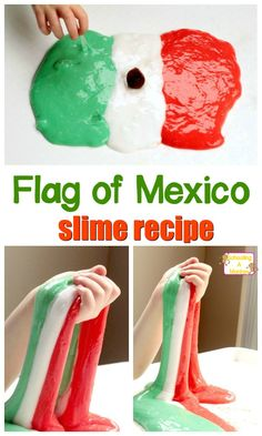 This super fun slime recipe is perfect for Cinco de Mayo or for a Mexico unit study or thematic unit!