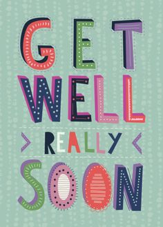 Rebecca Prinn - RP Block Typography Get Well