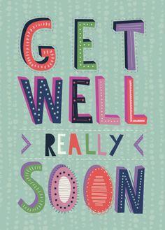 Rebecca Prinn - RP Block Typography Get Well