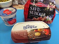 Liian hyvää: Kinkku-suolakurkku-voileipäkakku Creme Fraiche, Salsa, Bbq, Meat, Food, Barbecue, Barrel Smoker, Essen, Salsa Music