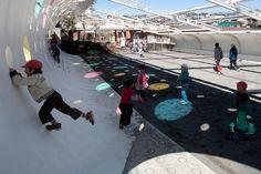 la zona de juegos para el jardín de infantes [patio con sol] | Lista completa de los ganadores | Good Design Award