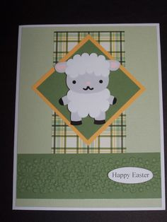 Easter card - using Silhouette Cameo