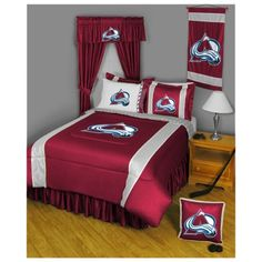 Grace's new bedroom! @Bruce Affeldt Colorado Avalanche Bedding Collection