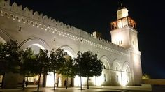 King Hussein Bin Talal Mosque at night is a sight to behold @cetstudyabroad