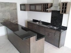 Small Space Kitchen, Kitchen Room Design, Kitchen Units, Kitchen Nook, Modern Kitchen Design, Kitchen Layout, Home Decor Kitchen, Interior Design Kitchen, Home Kitchens
