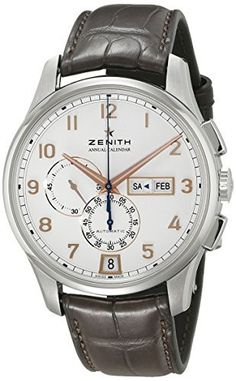 #Zenith Men's ZE032072405401C711 Captain Winsor Analog Display #Swiss Automatic Brown #Watch  Full review on: http://toptenmusthave.com/best-mens-watches/