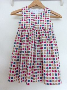 A personal favourite from my Etsy shop https://www.etsy.com/uk/listing/241799137/little-girls-dotty-dress-age-3-4-years