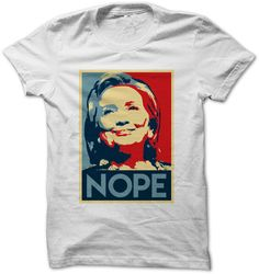 "FREE Hillary ""Nope"" T-Shirt from Absolute Rights!"