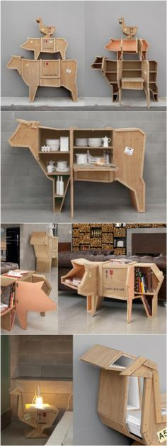 The best DIY projects & DIY ideas and tutorials: sewing, paper craft, DIY. Best DIY Furniture & Shelf Ideas 2017 / 2018 DIY Shelves Trendy Ideas : Thanks to Paolo Valzania here's some even better pics of sending animals whe. Unique Furniture, Kids Furniture, Furniture Design, Wood Projects, Woodworking Projects, Wood Design, Wood Crafts, House Design, Funny Kids