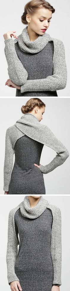 Convertible sleeve scarf // a scarf that becomes a sweater - need this now!