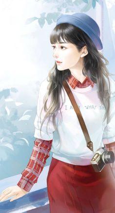 chinese girl y Beautiful Chinese Girl, Beautiful Fantasy Art, Beautiful Anime Girl, Cute Girl Drawing, Cute Drawings, Anime Art Girl, Manga Girl, Anime Girls, Chinese Drawings