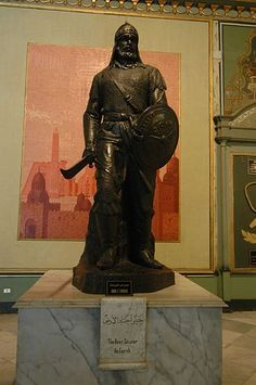 Sculpture of Saladin in Cairo, Egypt. He was a great leader. The courage of a Lion and the heart of Thomas More
