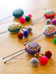 Ethnic Accessories | Hmong Heart Hairpin/ Accessories/ Ethnic/ Embroidery/Colorful/Tribal