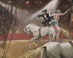 View Comedy Riders by Dame Laura Knight on artnet. Browse upcoming and past auction lots by Dame Laura Knight. Circus Pictures, Circo Vintage, Horse Posters, Knight Art, Circus Art, English Artists, Art Prints For Sale, Vintage Artwork, Horse Art