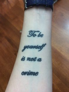 """""""To be yourself is not a crime"""" - Billy Talent"""