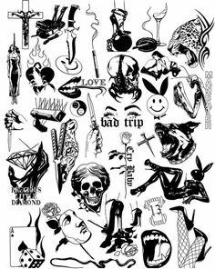 tattoo designs ideas männer männer ideen old school quotes sketches Creepy Tattoos, Dope Tattoos, Body Art Tattoos, Hand Tattoos, Small Tattoos, Tattoos For Guys, Flower Tattoos, Kritzelei Tattoo, Tattoo Dotwork