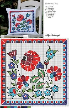 Embroidery patterns borders watches 30 new Ideas Cross Stitch Pillow, Cross Stitch Love, Cross Stitch Borders, Cross Stitch Flowers, Cross Stitch Charts, Cross Stitch Designs, Cross Stitching, Cross Stitch Embroidery, Embroidery Patterns