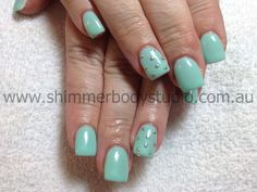 Gel Nails, Colour Nails, Studs Nail Art.