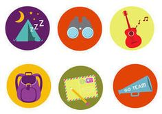 Summer camp badge vectors #outdoors #summer