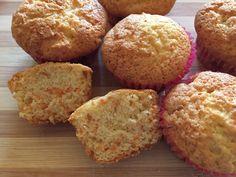 Muffin farina integrale, carote e mandorle
