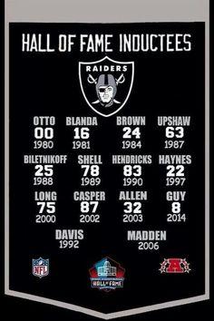 Raiders hall of fame