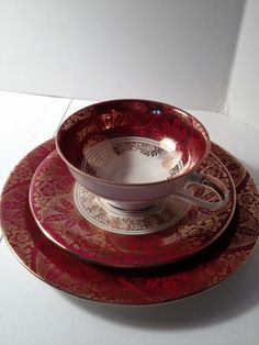 "This was a perfect ""Valentine's"" Discovery! Bavarian Fine China Teacup Saucer Plate by by itsasimplelife, $15.50"