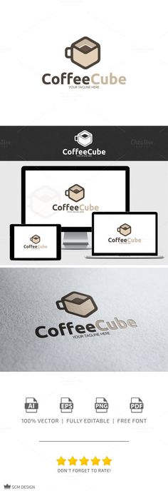 Check out Coffee Cube Logo by Seceme Shop on Creative Market