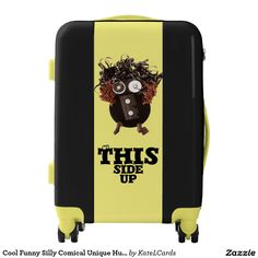 Cool Funny Silly Comical Unique Humorous Emoji Luggage