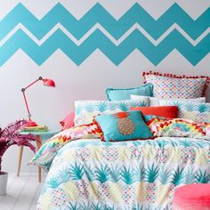 Ruckus Zizi Quilt Cover Set, quilt covers for teens, teenage quilt covers